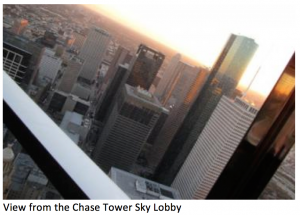 View From Chase Tower Sky Lobby