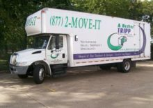 Small moving truck