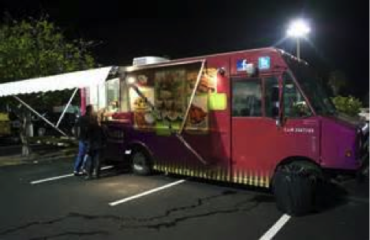 Food trucks offer quality and gourmet fare.