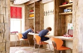 rustic study room