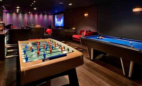 Game room with fuse ball table