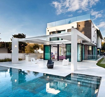 Contemporary pool houses