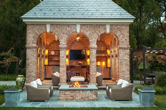 two story pool house